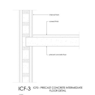 ICF Intermediate floor detail