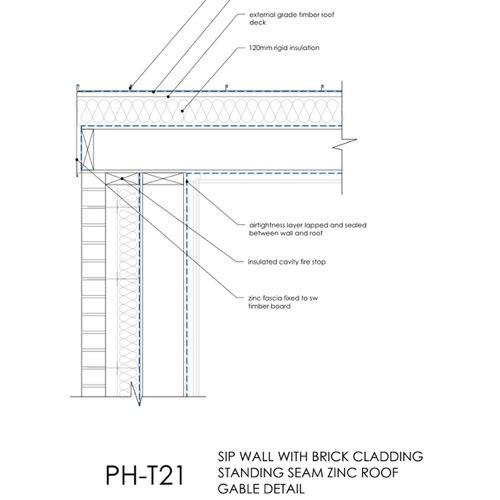Passivhaus SIP Roof verge detail