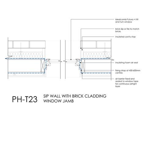 Passivhaus SIP window jamb detail
