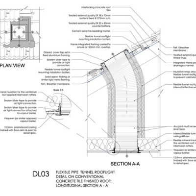 DL03 Pipe tunnel rooflight detail