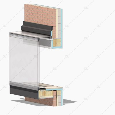 DL07 - Glazed Bay Window with Monopitched Roof 3D