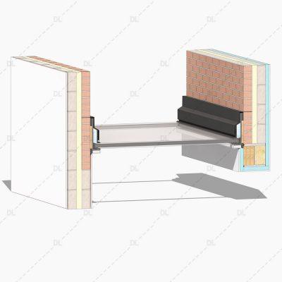 DL08 - Glazed Monopitch Roof Detail 3D