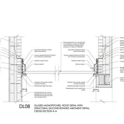 DL08 - Glazed Monopitch Roof Detail
