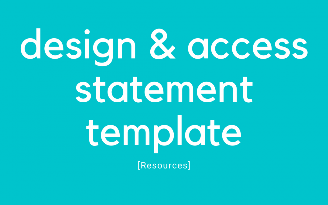Design and Access Statement Template