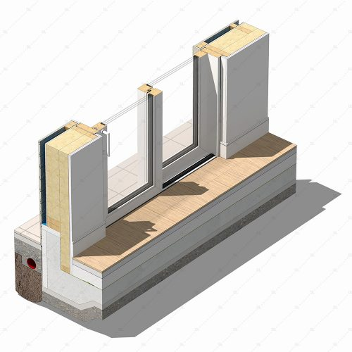 DL19 lift and slide timber door detail thumb 3D