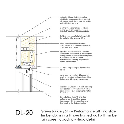 DL20 lift and slide timber door head detail thumb