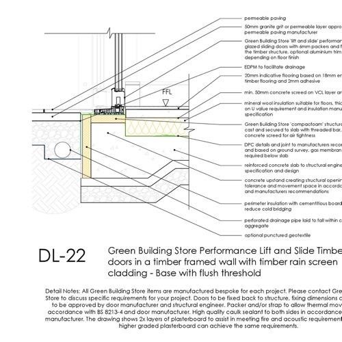 DL22 lift and slide door threshold detail thumb