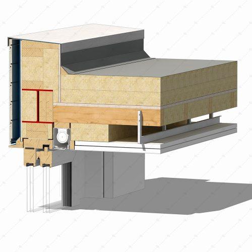 DL24 sliding timber door flush head detail concealed blind thumb 3D
