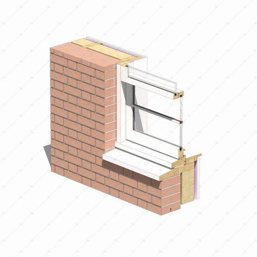 DL28B sash window sill detail thumb 3D