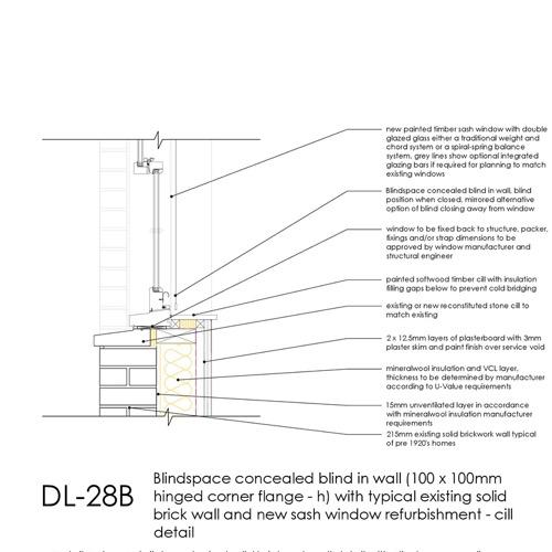 DL28B sash window sill detail thumb