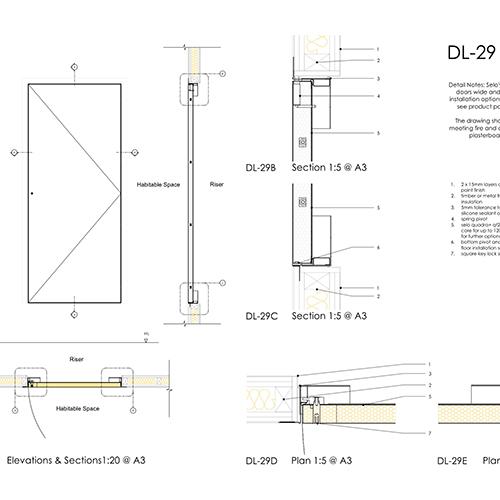 DL29 flush riser door thumb