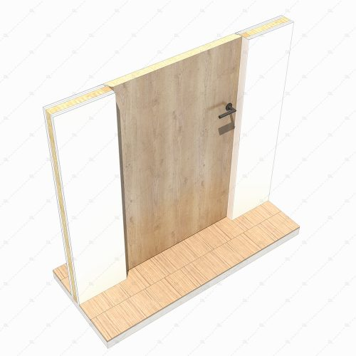 DL30DE flush inward opening door