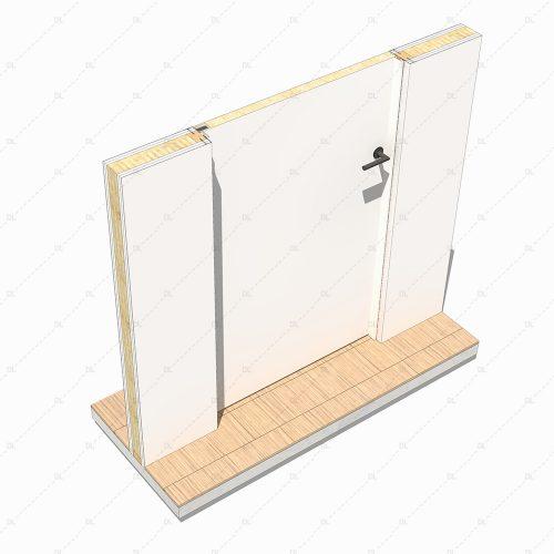 DL31 DE flush outward opening door