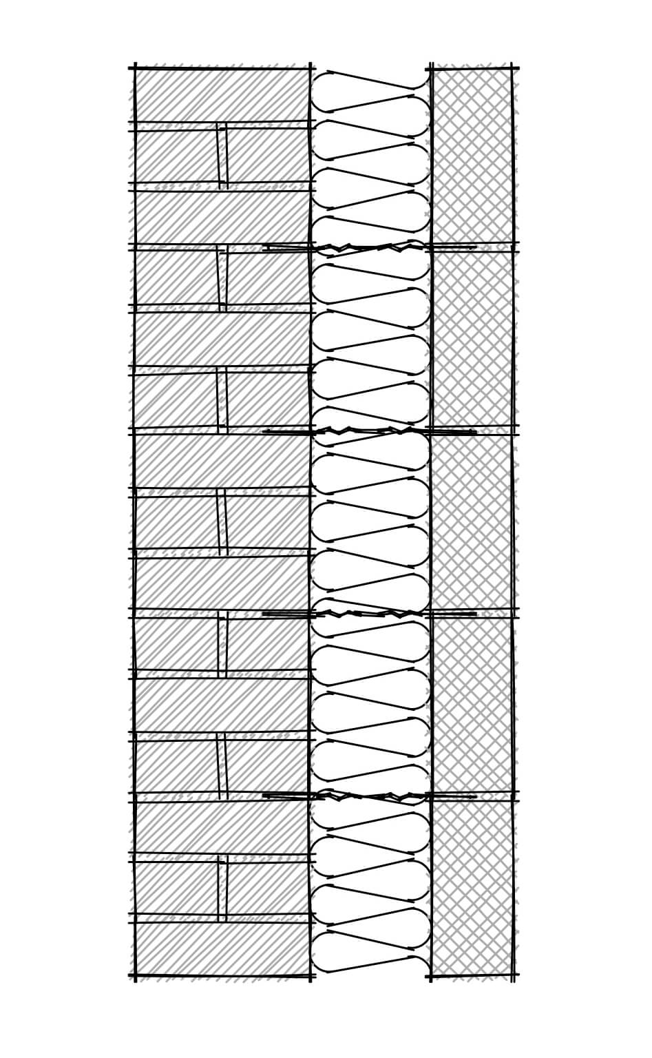 Wall Section- flemish stretcher