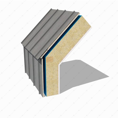 DL41 Zinc standing seam eaves detail